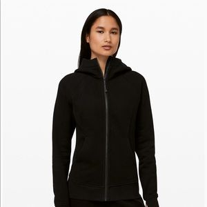 Lululemon black scuba hoodie cotton fleece size 6
